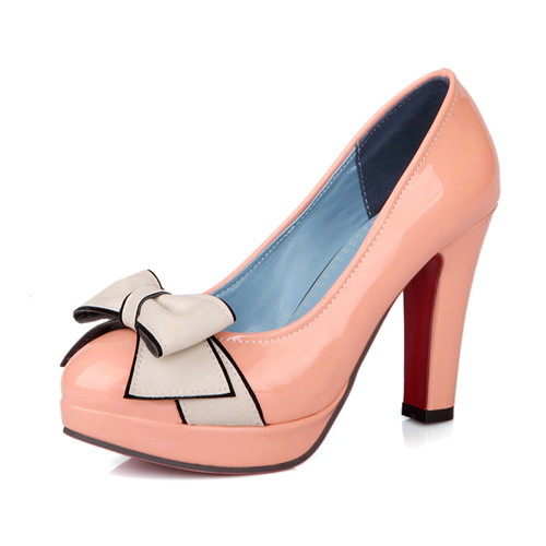 20032a2bece Buy Red Bottom High Heels Pointed Toe High Heels Platform Party Thick Black High  Heels Plus Size 11 12 Sweet Bow Knot Pink Shoes V06 in Cheap Price on ...