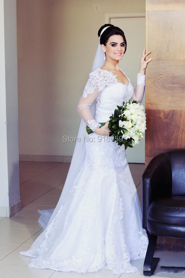 Wedding Gowns With Sleeves In India 70