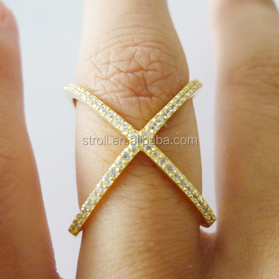 juzhi jewelry yiwu 925 sterling silver x shaped ring hot sale on