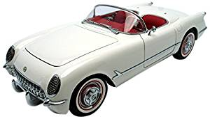 AUTOart 1:18 Scale Chevrolet Corvette Convertible 1953 Polo White Die Cast Model Car 71081