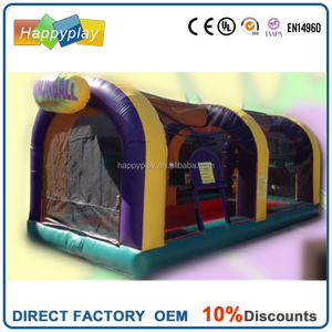 Inflatable shooting gun games playing fence Air Cannonball playing room soft foam balls shooter gun games cannonball games