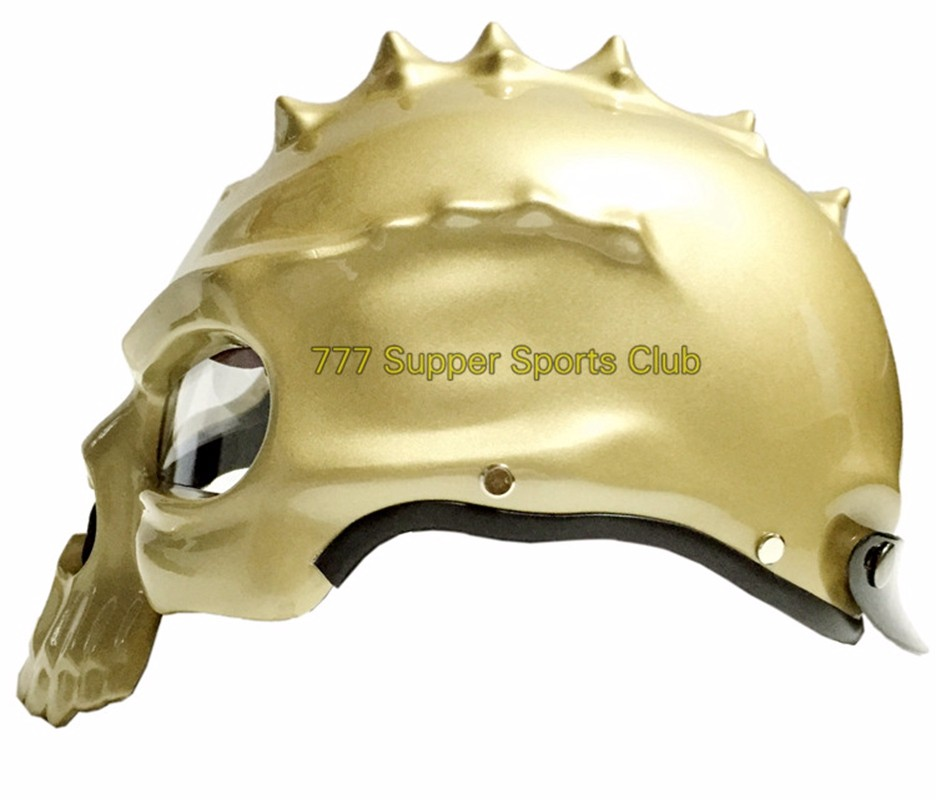 Skull Motorcycle Helmet Motor bike Casco moto Capacetes Half Face With Lens Cyclegear CG489
