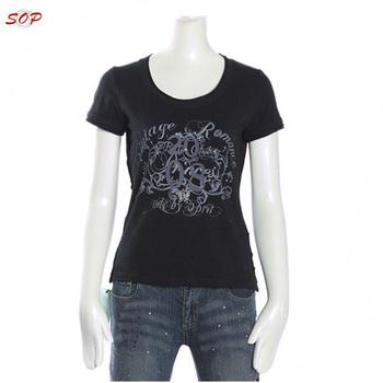 1a14a09805c5 100% cotton round neck black wholesale hemp women 3d t-shirt printing