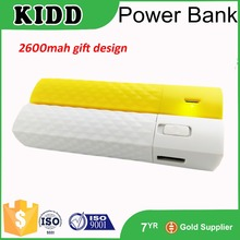 High Quality Wholesale UL 100% Full Capacity 2600mah power bank external battery charger for ht