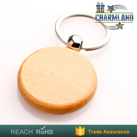 Free Sample top quality key holder promotional blank wooden keychain with name