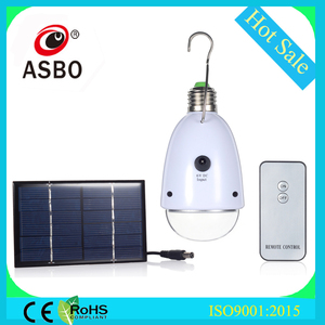 2015 New Product 220V 1W Solar Rechargeable B22 E27 LED Bulb