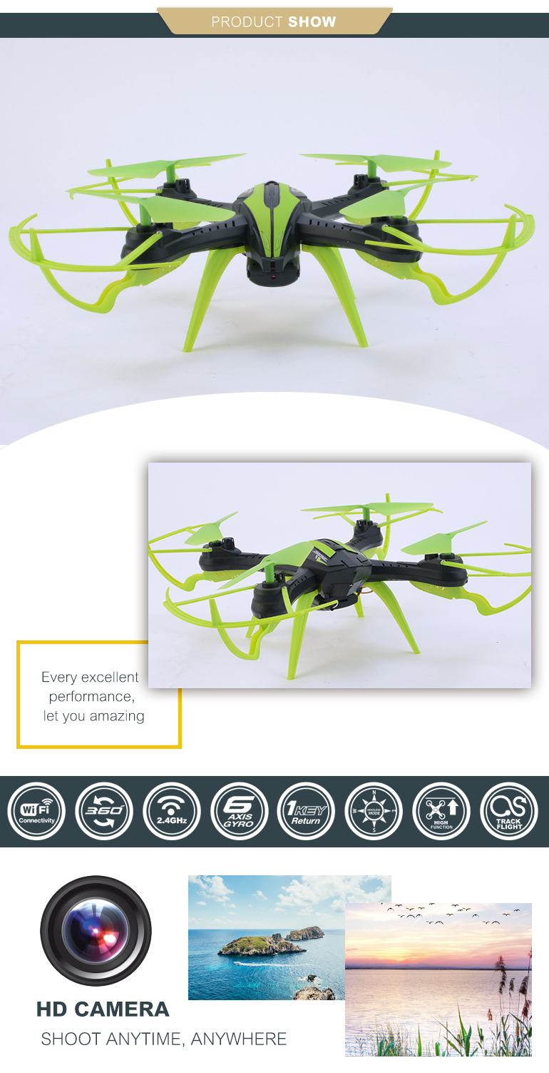 china 2.4G WIFI drones smartphone control long range fpv with camera