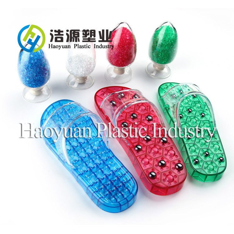slipper straps pvc colorful compounds transparent soft pvc