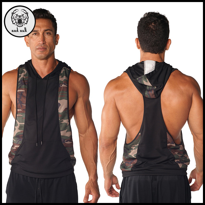 5e597597535a13 Man Camo Muscle Fit Stringer Hoodie Sleeveless Gym Hoodie Wholesale - Buy Stringer  Hoodie