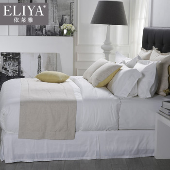 Exceptional 5 Star Luxury Cotton Sateen Hotel Used Bed Sheets,1000tc Egyptian Cotton Bed  Sheets Hotel