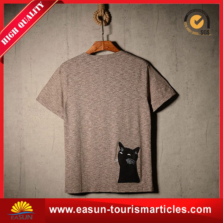 professional quality latest design collar t shirt t shirt iron on letters plain t-shirt men