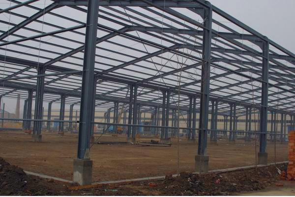 ISO & CE wide span light frame steel structure building prefabricated house