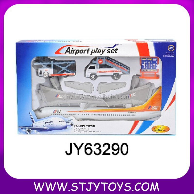 Big Airplane Toys Kid Toy Airport Play Set For Promotion