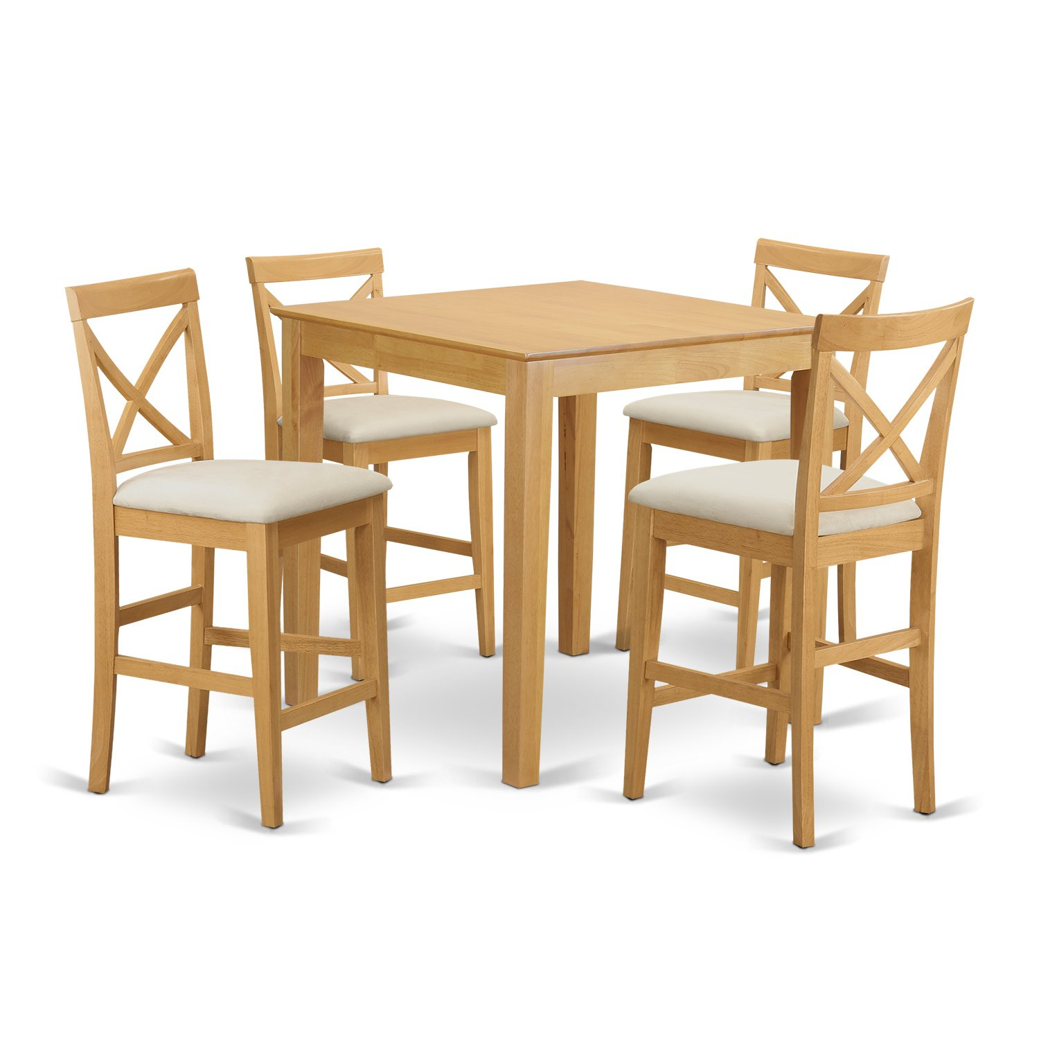 Get Quotations · East West Furniture PUBS5 OAK C 5 Piece Counter Height  Table Set,