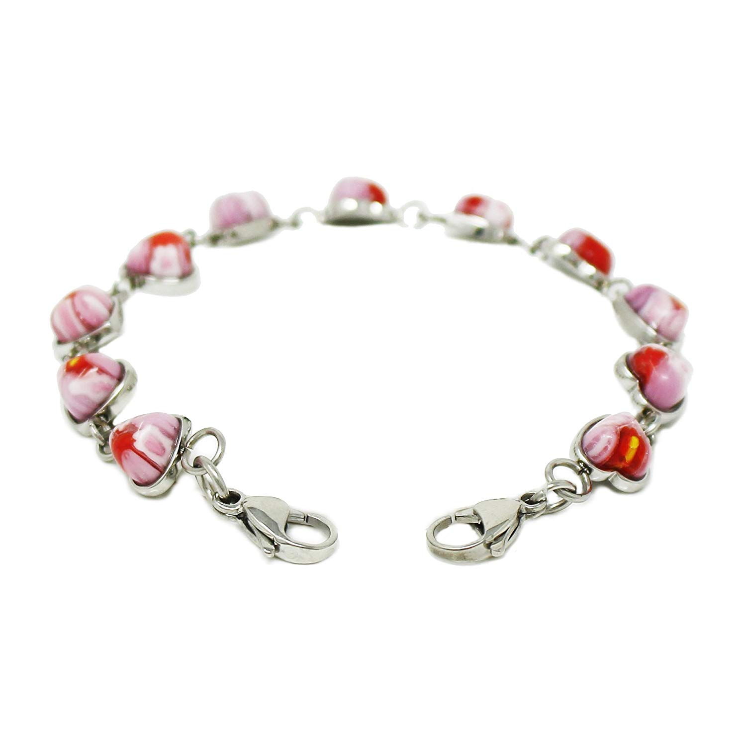 Red Millefiori Glass Red My Identity Doctor Pre-Engraved /& Customized Alzheimers Charm Medical Bracelet