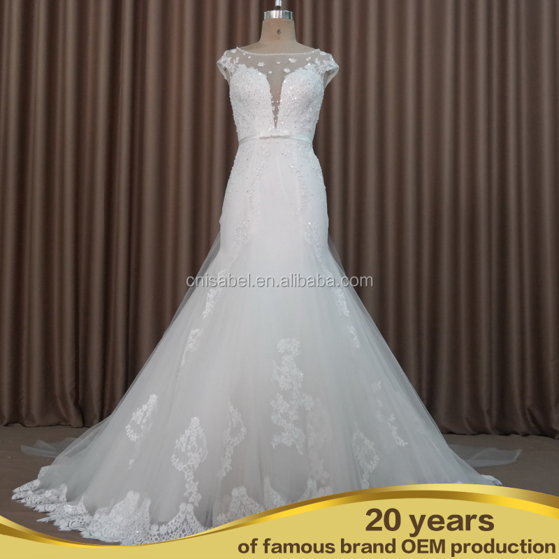 Sw16664 Customized Wedding Dress Diamond Pearl Beading Ball Gown Lace Up Beaded Dresses