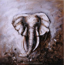 Cheap canvas portaretratos elefante al por mayor pintura al óleo