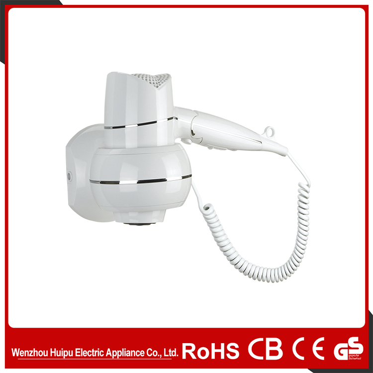 Hotel Bathroom ABS Plastic Wall Mounted Hair Dryer