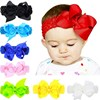 16 colors!!Baby Children Grosgrain Ribbon Bow Infant Toddler Girl Headband Crochet Hairband Hair Band Accessories