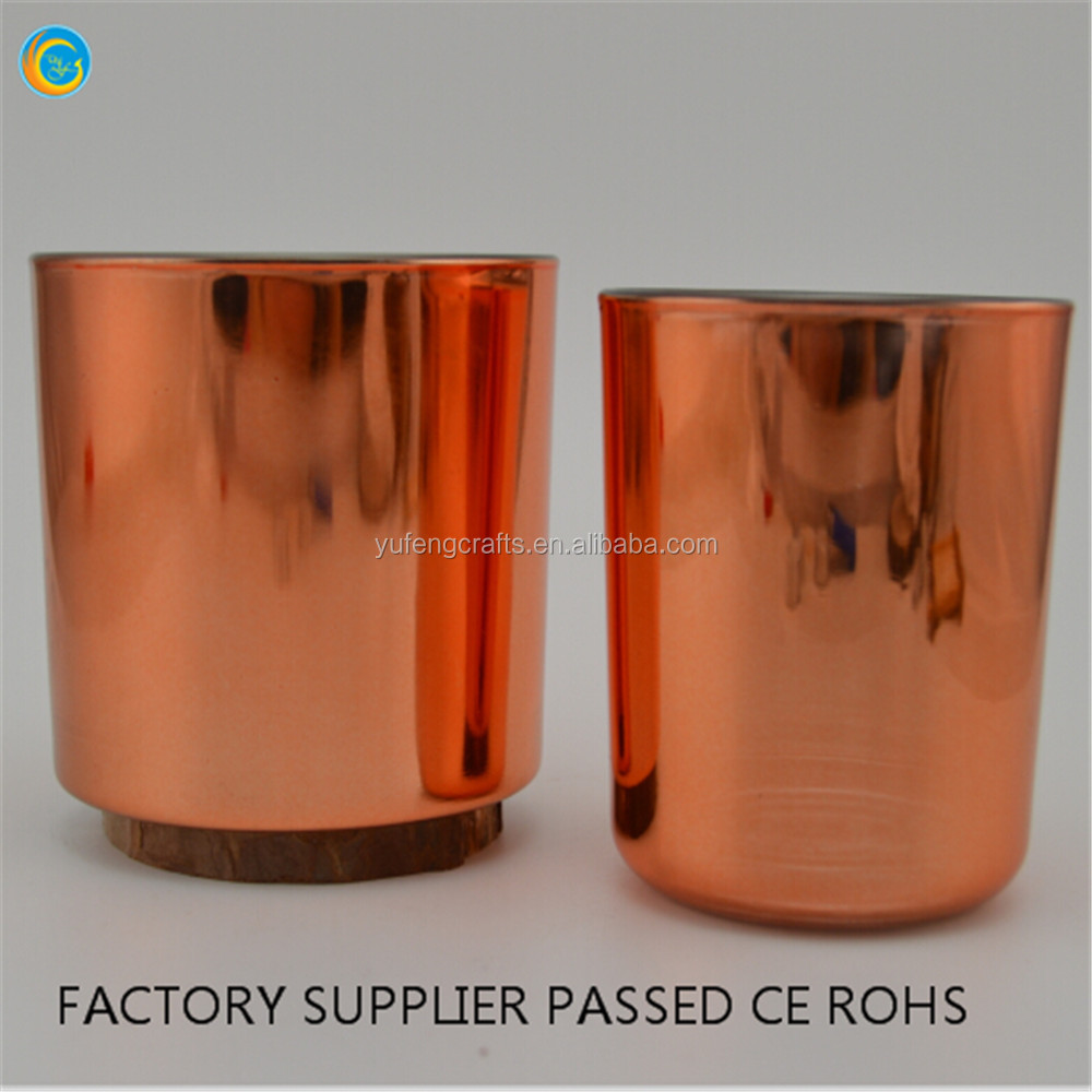hot sale copper glass for candle metallic copper jar