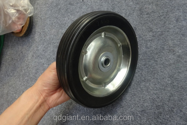 "7""X1.5 solid rubber trolley wheel"
