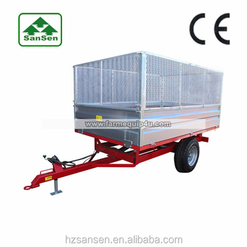 CE european tractor trailer off-road use in agriculture equipment ; farm cargo trailer