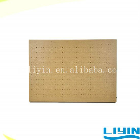 Micro perforated wooden acoustic wall panel sound absorption