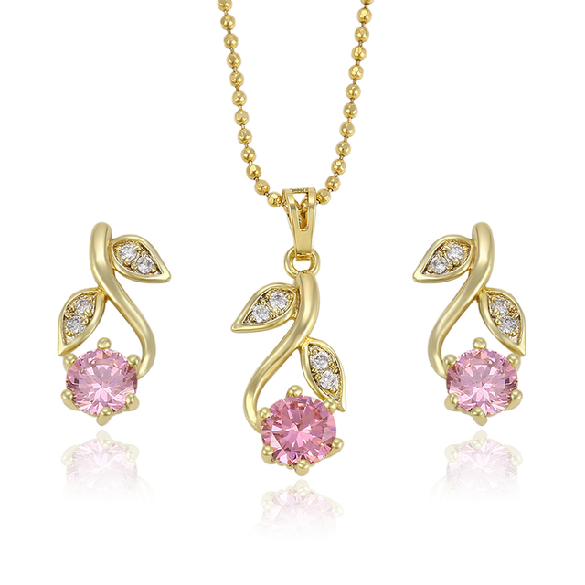 63836 China Xuping Manufacture ladies jewellery, Fashion jewellery sets, Wholesale 14k gold plated jewelry set
