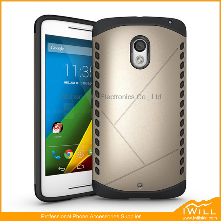 Newest Design Armor Hard Shield For Moto X Play , Two Layers Armor Hybrid Cover For Moto X Play Case