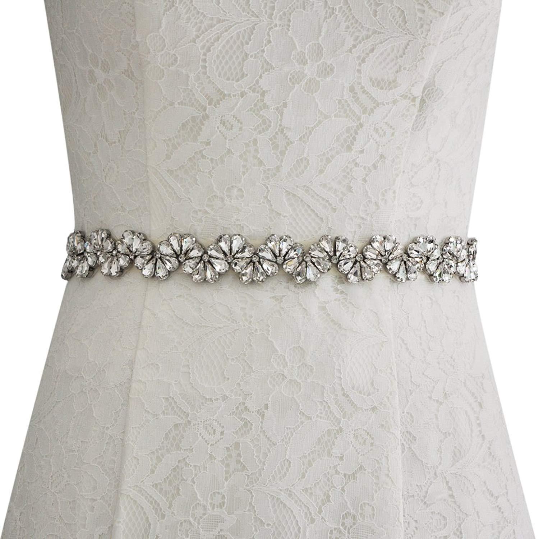 THK-Wedding Bridal sash and belts,wedding belts with rhinestones,women crystal wedding belt