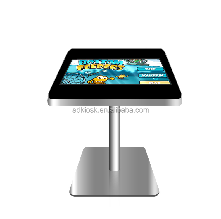 new product 21.5 inch led capacitive touch screen kiosk interactive led coffee table