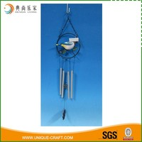 Resin bird and metal aluminum wind chime wholesale