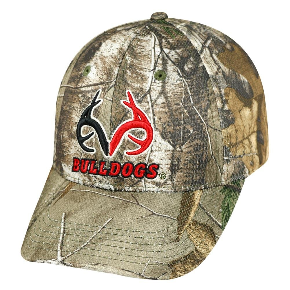 Buy Realtree Logo Georgia Bulldogs UGA Camo Hat Stretch One Fit in ... 60ce7854669