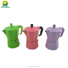 Hot Sales Espresso Car Coffee Makers Colored Moka Maker