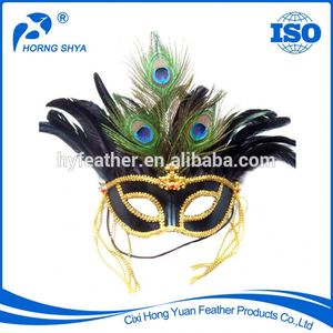 Factory CM-315 High Quality Sexy Design Carnival Masquerade Party Feather Mask Customized Peacock Mask