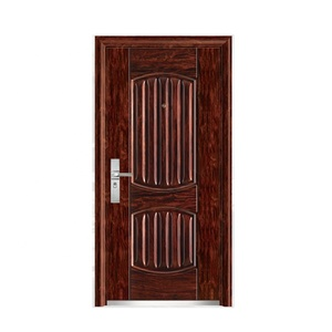Hot Sale Cheap House Exterior Safety Metal Entrance Steel Door Design