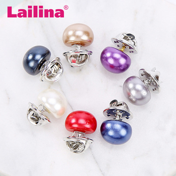 Artificial dyed pearl collar pin buckle&collar pin brooch