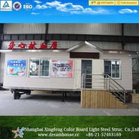 prefabricated house prices/prefabricated movable trailer tiny House/luxury container house with wheels