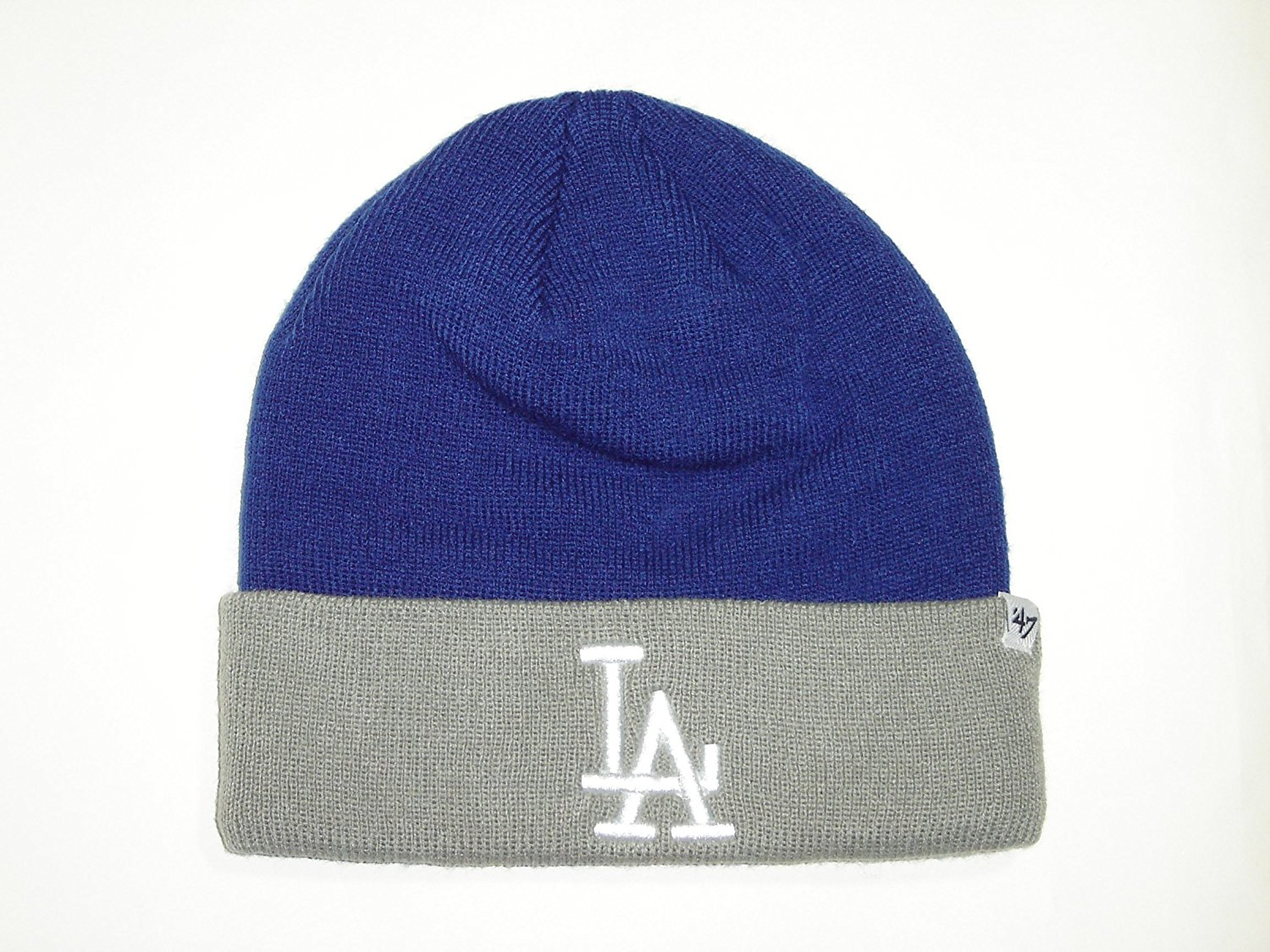 a8d465efda2 Get Quotations · MLB  47 Brand LA Dodgers Royal Blue 2Tone Classic Cuffed  Knit Winter Beanie Hat