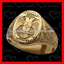 fashion jewelry male ring designs with deep engraving