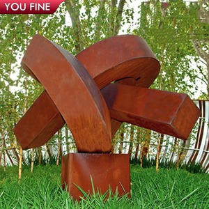 Amazing Antique Outdoor Abstract Corten Knot Sculpture for Sale