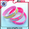 Fashional cheap silicone bracelets with charms