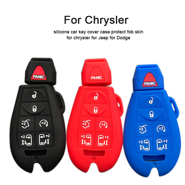 AS071008 Silicone car key cover for chrysler Jeep Dodge