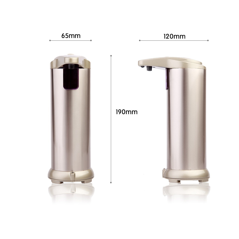 POWER stainless steel no touch portable fancy electric liquid bath automatic soap dispenser