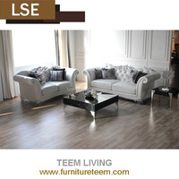 Full grain leather luxury villa business center new classic royal elegant high end grade home living room sofa