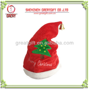 funny christmas hat singing hat with crazy shaking dancing cheerful plush hat