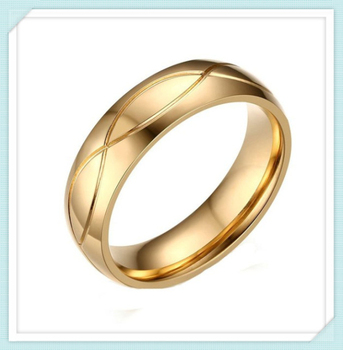 24k Gold Plated Stainless Steel Fashion Engraving Ring Designs For