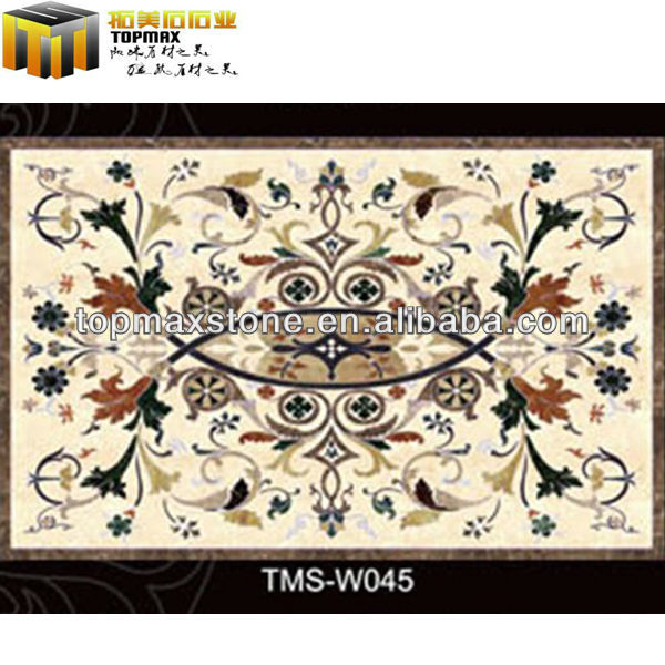 Elegant church decoration polished marble waterjet works