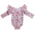 2018 latest flutter sleeve baby romper wholesale children's boutique clothing baby clothes