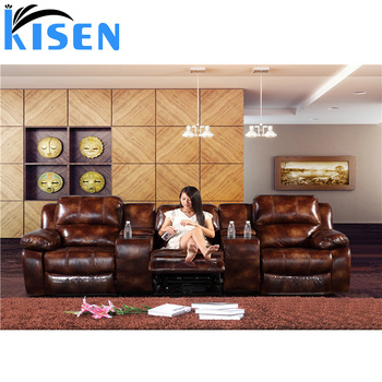 living room furniture leather home theater recliner massage sofa, View  recliner massage sofa, KISEN Product Details from Foshan Kisen Home Limited  on ...